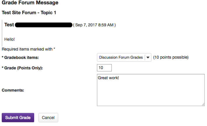 How do I assess student learning in online discussion forums